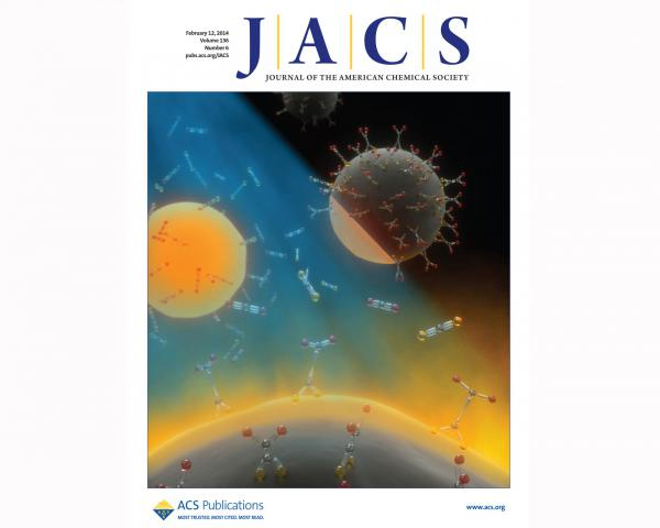 Feb 12, 2014 issue of JACS. Cover by Peter Allen, designed by Tony DeMartino